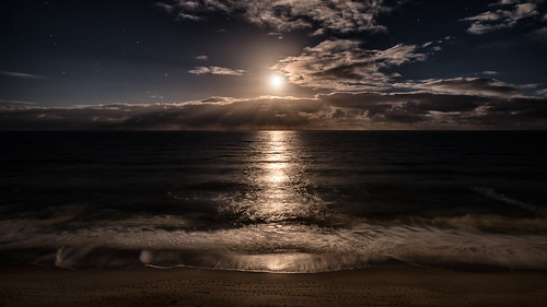 fineart night landscape calm peaceful stars moon clouds longexposure photograph unitedstates travel photography photo sky seascape beach florida geotagged sea indialantic us onsale