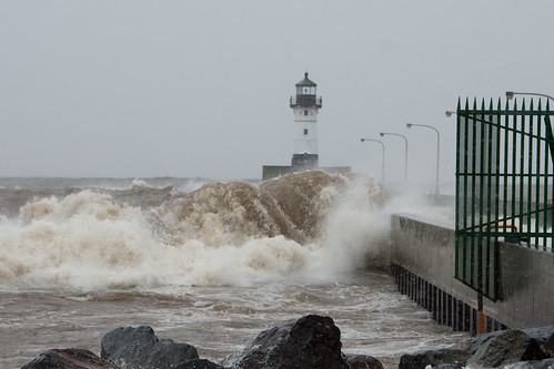 North Shore Trip - Oct 2017 - Massive Waves at Duluth Entry | by pmarkham