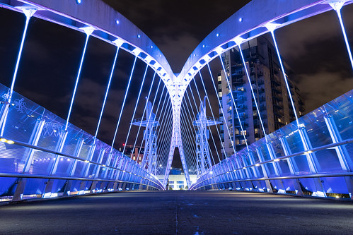 Millennium Bridge, Salford Quays | by Arran Bee