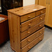 Natural pine chest of drawer E80