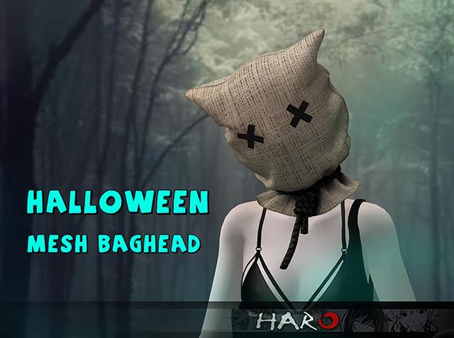 HALLOWEEN MESH BAGHEAD