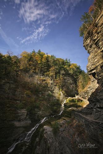 lucifer falls robert h treman state park ithaca new york waterfall cascade gorge fall autumn colour color october
