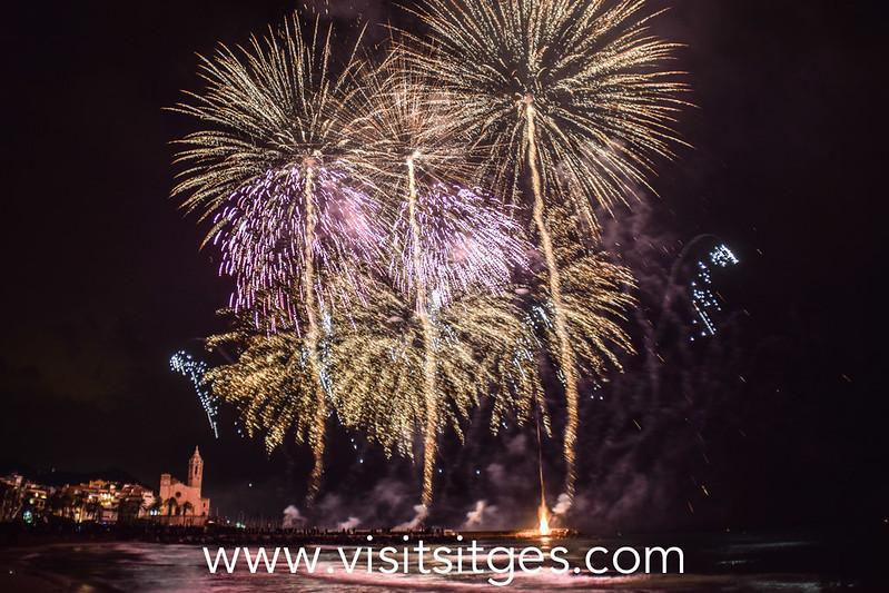 Los fuegos artificiales de Sitges 2021 se lanzarán desde diferentes puntos de la ciudad