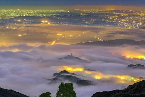 taiwan 南投縣 鹿谷鄉 大崙山 茶園 風景 夕陽 夜景 琉璃光 雲海 天空
