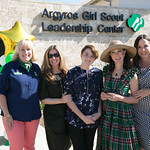 GSOC CEO Nancy Nygren, Wendy Hales with Argyros Family - grandaughter Sylvia, Julia Argyros, and daughter Lisa at September 23rd Opening Celebration of the Argyros Girl Scout Leadership Center (3)