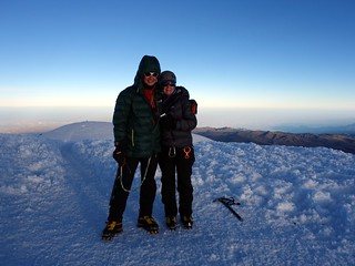 Me and Edita on the summit of Chimborazo (6310m) for a second time | by markhorrell