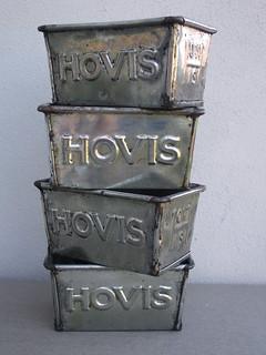 Vintage Hovis Bread Baking Loaf Tins Industrial Looking Kitchenalia