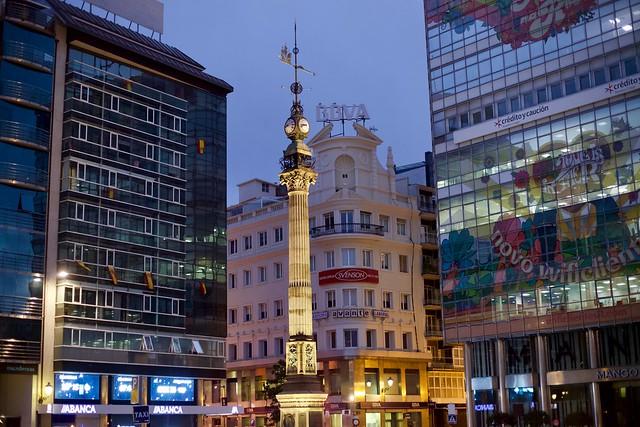 Centro de la Coruña, ese momento incierto entre el dia y la noche