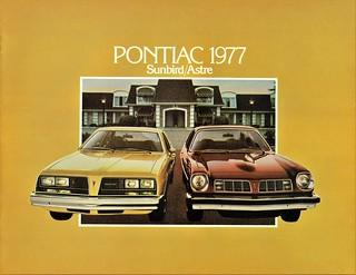 1977 Pontiac Sunbird & Astre (Canada)
