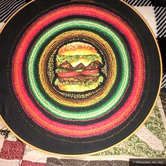 Burger Embroidery Project - In Progress - October 2017 - Part 1