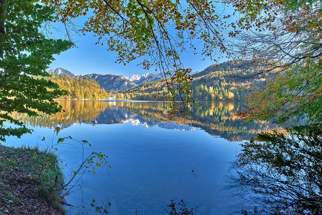 Alpine Autumn Panorama - Lake Hechtsee