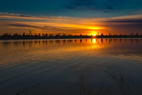 sunset sun skyline sky reflections water park memphis tennessee sony a6500 alpha6500 sigma 19mm