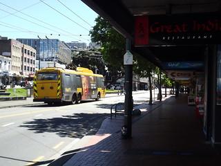 Wellington trolley bus along Manners Street