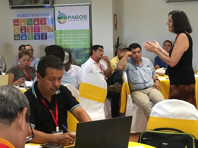 EcoAgriculture Partners President Sara Scherr Presenting to Participants