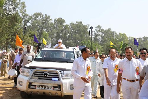Organizers lead the procession