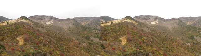 Mount Zao, 4K UHD, stereo parallel view