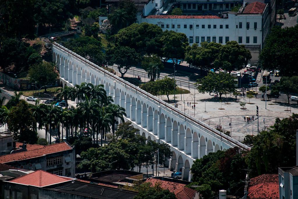 Arcos da Lapa (vista do Parque das Ruínas), Rio de Janeiro, RJ, Brasil.