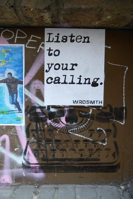 Wrdsmth stencil, Shoreditch