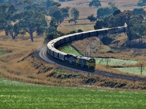 railroad railways railway rail train trains locomotive locomotives freighttrain diesel diesels australiantrains nswrailways nswrail canonpowershot canon