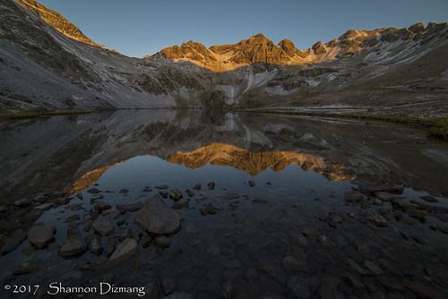 colorado clearlake sunrise reflection milliondollarhighway sanjuans
