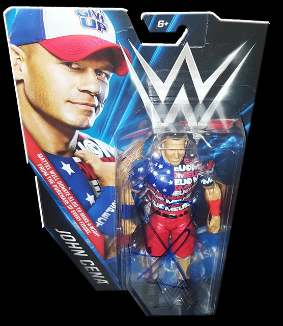 John Cena Autographed WWE Make-A-Wish Exclusive Basic Mattel Figure