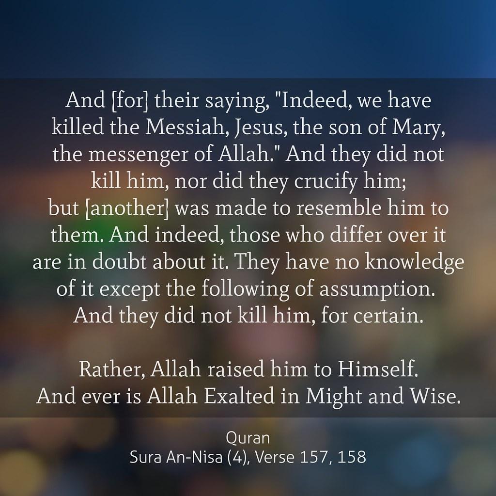 Quran Sura An-Nisa (4), Verse 157, 158