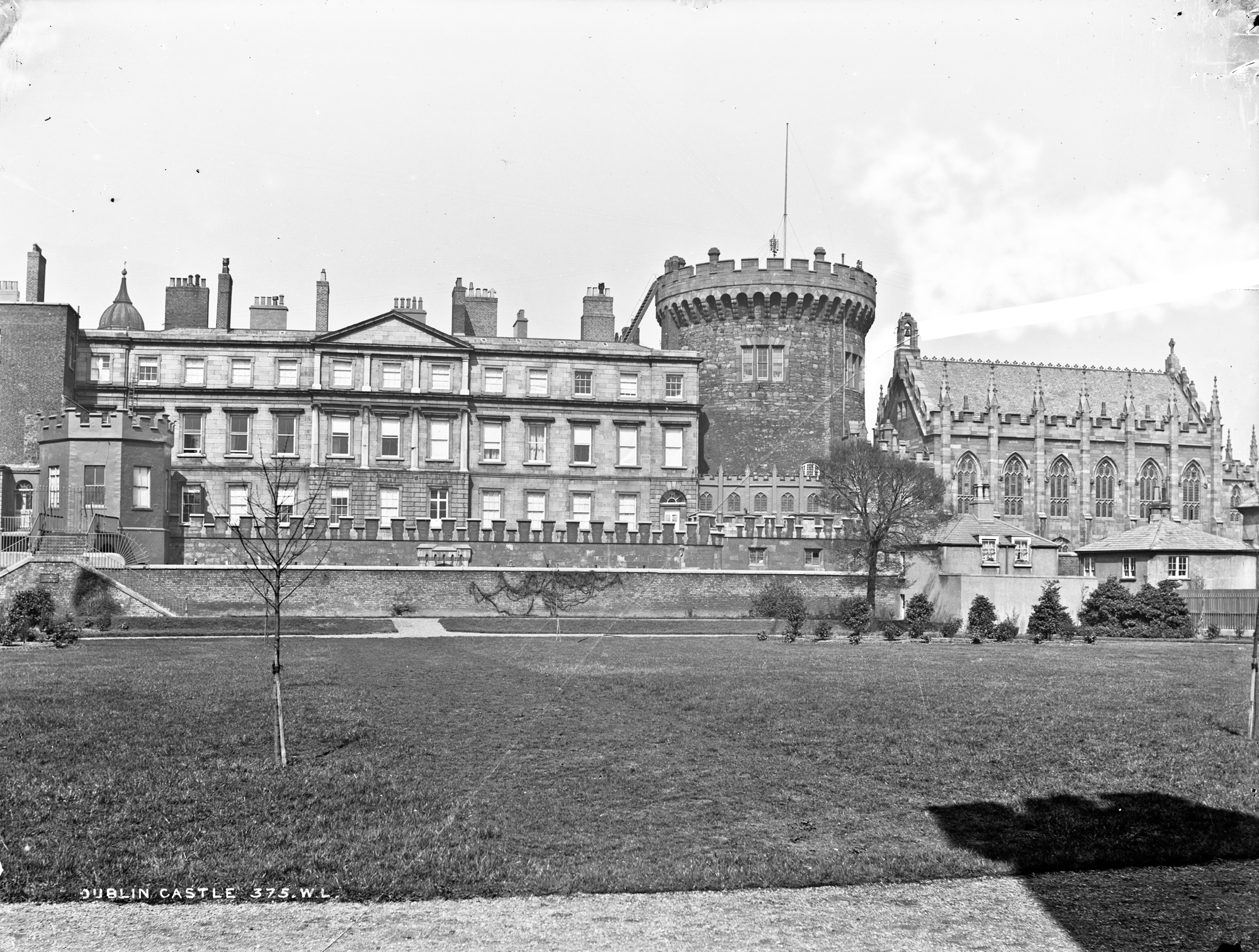 Dublin Castle and the State Apartments from the lawn