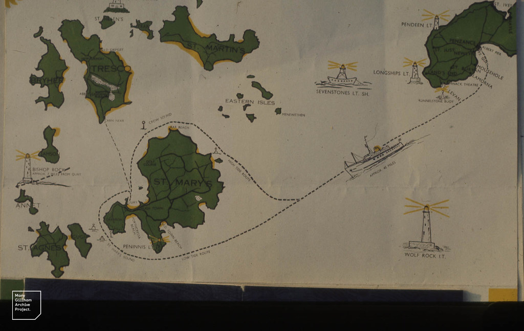 Map of Scilly Isles