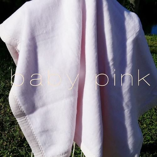 Blank Baby Pink Blanket Ready to Personalize | by Stitchcottage