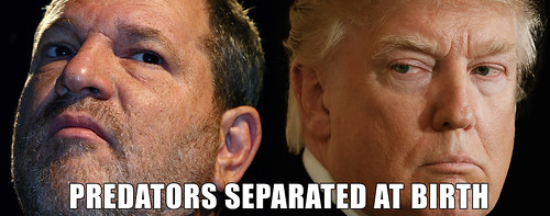 Predators Separated At Birth: Harvey Weinstein and Donald Trump