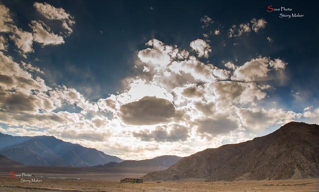 Dramatic Ladakh Sky On the Way back to Leh  from Lamayuru  ....