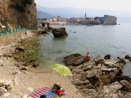 monténégro crnagora budva plagedemogren plages mer littoral paysage nature côte rochers adriatique