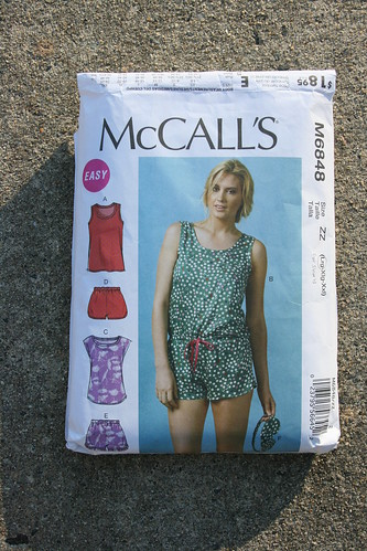McCall's 6848 Top in Watercolor Rayon | by patternandbranch