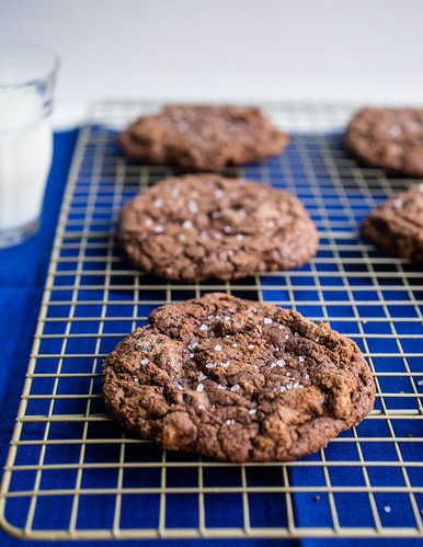 Giant Chewy Salted Triple Chocolate Cookies | by Smells Like Home