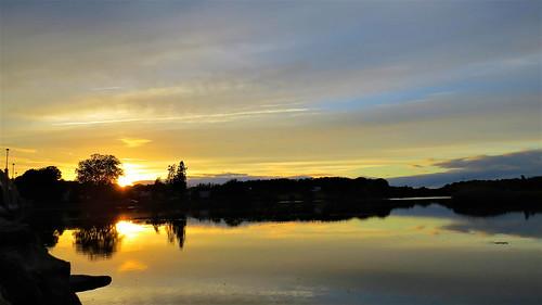 sunset water river tauntonriver
