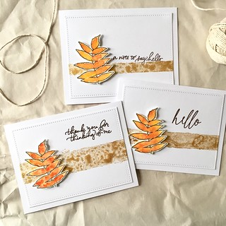 Autumn leaf cards | by Kimberly Toney