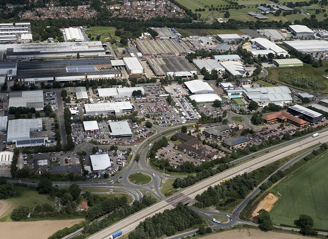 Ransomes Industrial Estate in Ipswich - aerial view