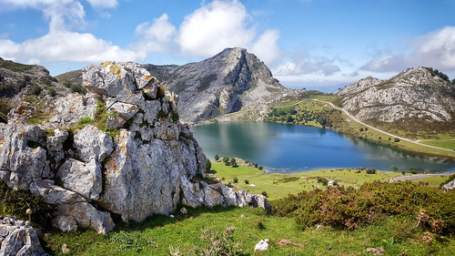 Lake Enol, one of the Lakes of Covadonga in Asturias, Spain | by Randy Durrum