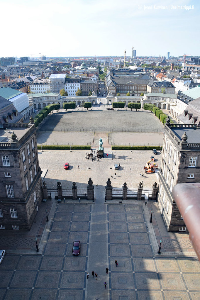 Näkymä Christiansborgin palatsin tornista