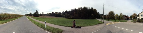 Winterthur ZH, Switzerland - A musician somewhere in the nowhere