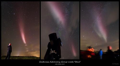 aurora northernlights steve caithness scotland telescope