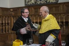 El doctor Serrano con el rector, Fernando Galván