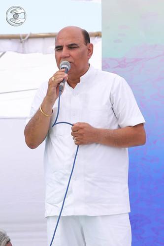 Stage Secretary, Basant Komal from Ludhiana