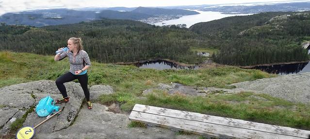 2016-08-28 27 Norwegen, Bergen, Power Hiking Guide ;-)