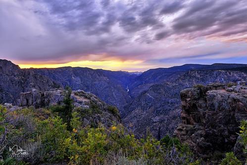 markwhitt markwhittphotography colorado blackcanyon blackcanyonofthegunnisonnationalpark nationalpark usnationalpark usa canyon clouds sunset roadtrip travel adventure scenic scenery outdoors view viewpoint sunsetview