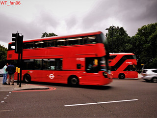 Buses in motion in London | by WT_fan06