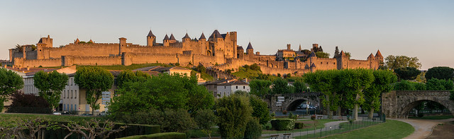 Cité de Carcassonne, panoramic shot
