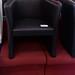 Black leather tub chair E60