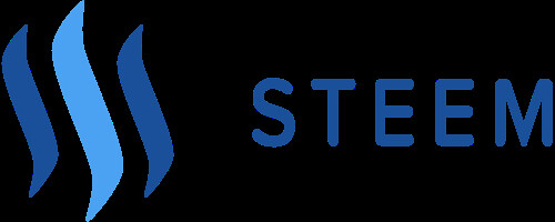 Steem logo with words. TrandBG