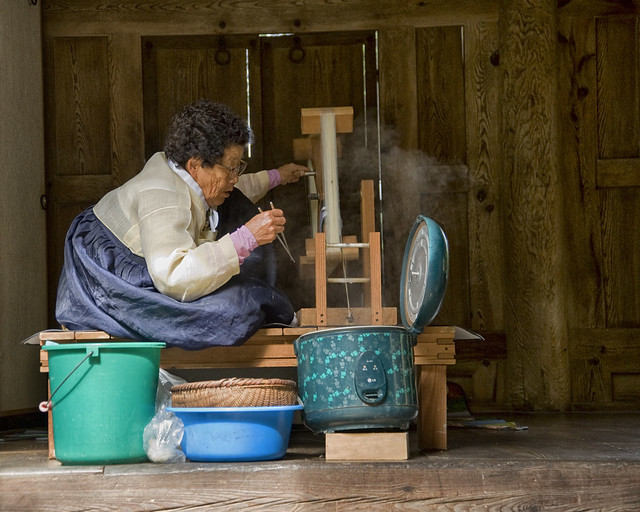 Korea:  Making Silk